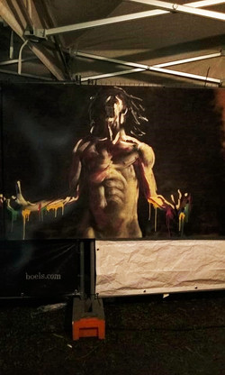 graffiti at Rock Landen festival