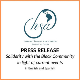 PRESS RELEASE: Solidarity With the Black Community in Light of Current Events
