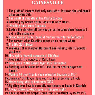 20 Things I'll Miss When I Leave Gainesville
