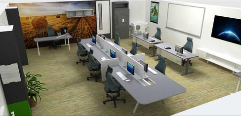 Office team interior space design