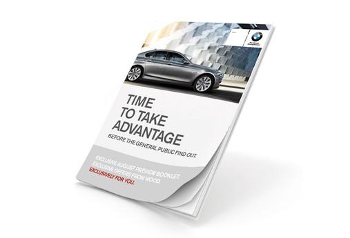 Personalised BMW customer sales booklet