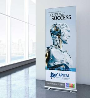 Capital School Event Banner Stands