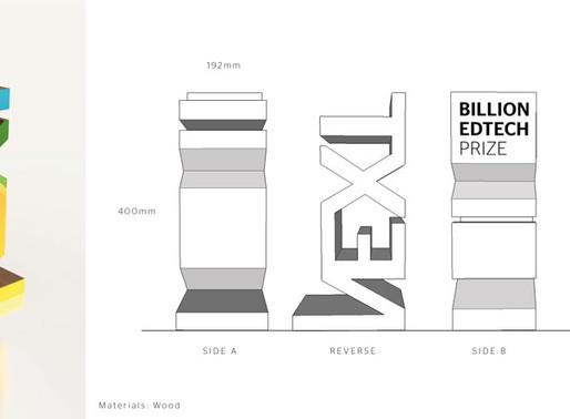 Next Billion Edtech Prize Trophy Design by Landmark Creative