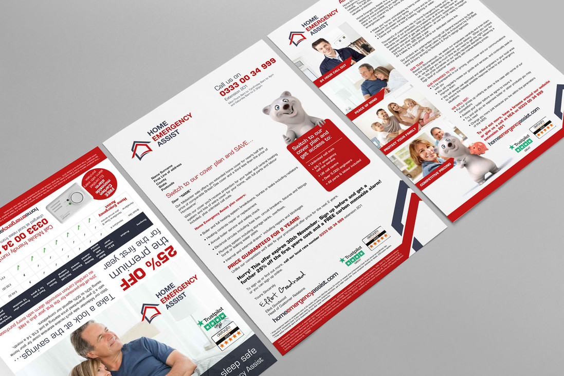 Personalised Home Emergency Assist Direct Mail Letter