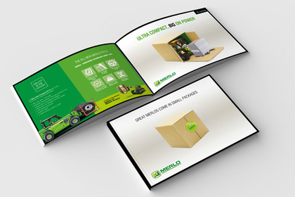Fully designed, produced and printed sales promotional literature showcasing a new compact farm or construction machine page. High quality digitally printed   Required:  Design | Concept | Printing