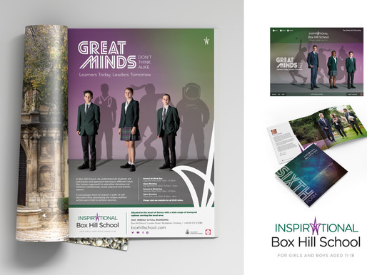 Unique advertising campaign created for Box Hill School