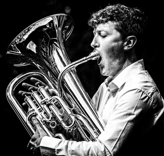 A sharp intake of breath : Another one from Picnic in the Park with Newstead Brass (BrassFestUK)