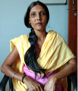 Vidhya in wig we offer women going through cancer treatment