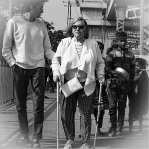 Sylvia Birch walks Howrah Bridge for charity