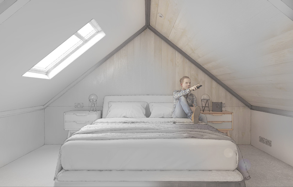Garden House - Internal - Bedroom - styl