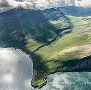 Aleutian Range Rises Out of Pacific Ocea