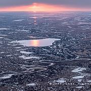 Sunset Across Frozen Tundra
