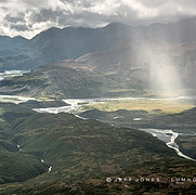 Rain and Sun in Glaciated Valley