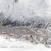 Frozen Channels in Bottom of Gorge