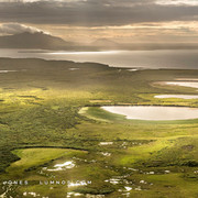 Sunspots on Marshland and Lake