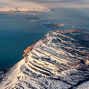 Winter, Aleutian Mountain Range and Paci