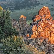 Sunset Light Near Ridge