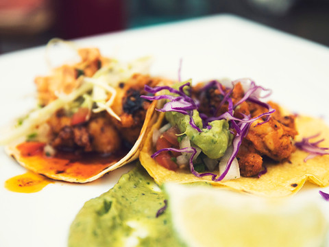 Tac/Quila Lobster and Chicken Tacos