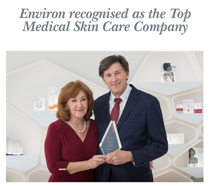 Environ Award, the best skincare in the world.