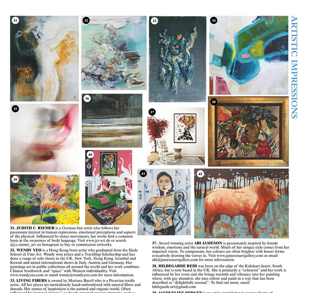 Art of German artist Judith C. Riemer, as seen in june edition 2020