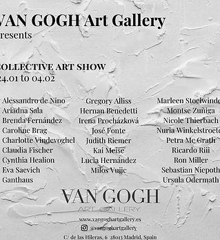 Flyer ¨Collective Art Show¨- VAN GOGH AR