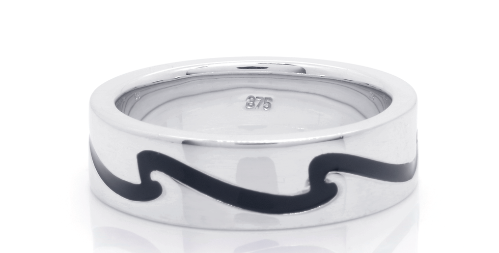 WAVE MENS FLAT BAND RING