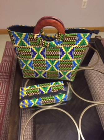 Hand Bag/Clutch set