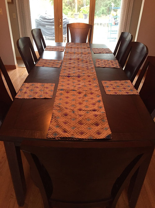 Set of 8 Dining Table Placemats/with Runner