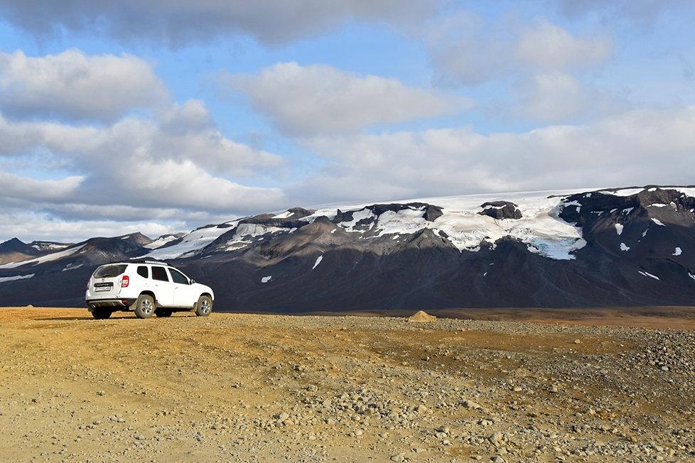 Islande piste F550 glacier Thórisjökull duster