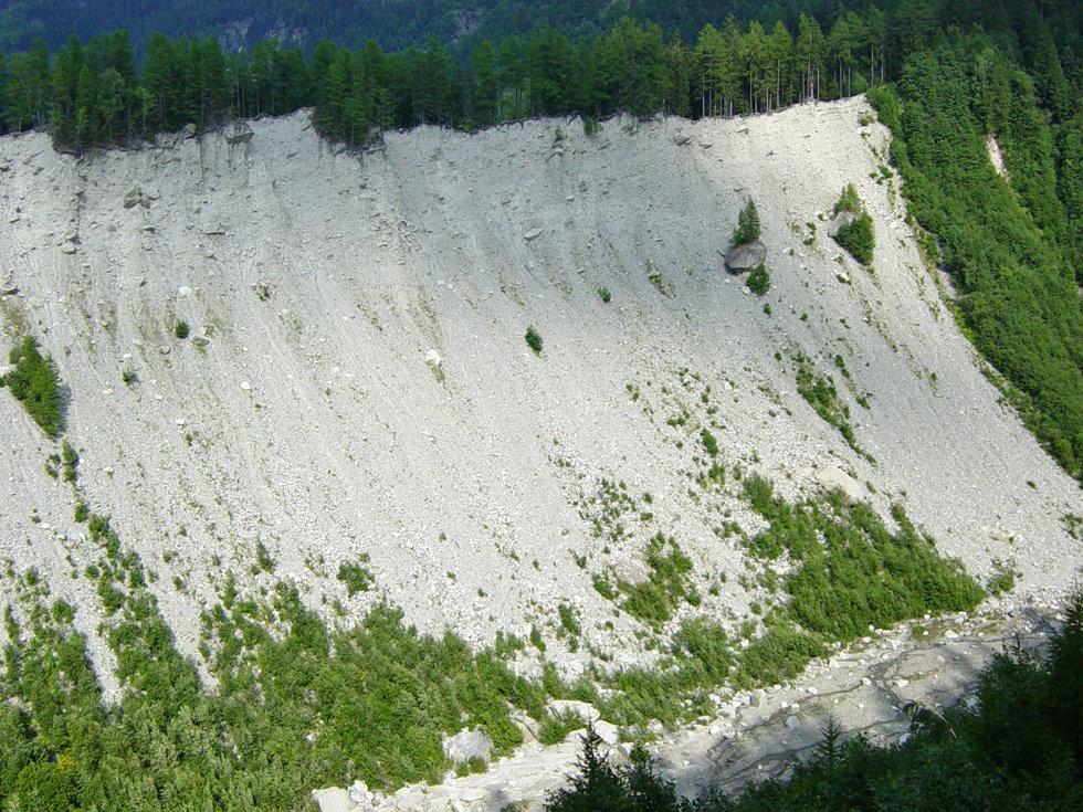 Chamonix - Moraine du glacier des Bossons