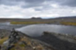 Piste F910 askja rivière gué hautes terres islande iceland