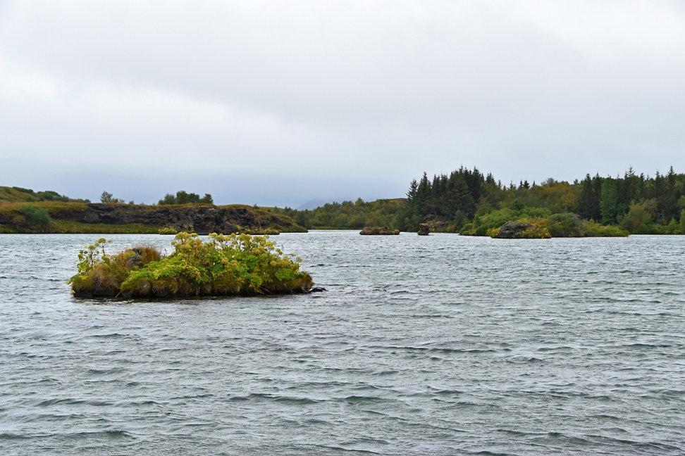 islande iceland lac Myvatn île