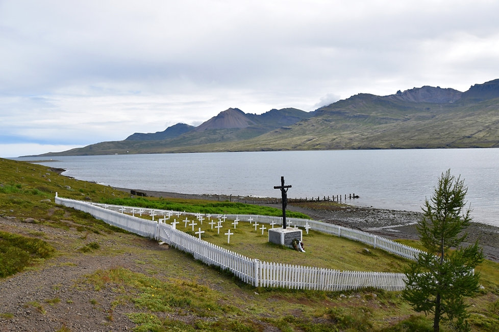Fáskrúdsfjördur Krossar cimetière marin francais