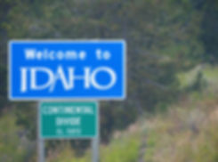 Idaho state etat panneau