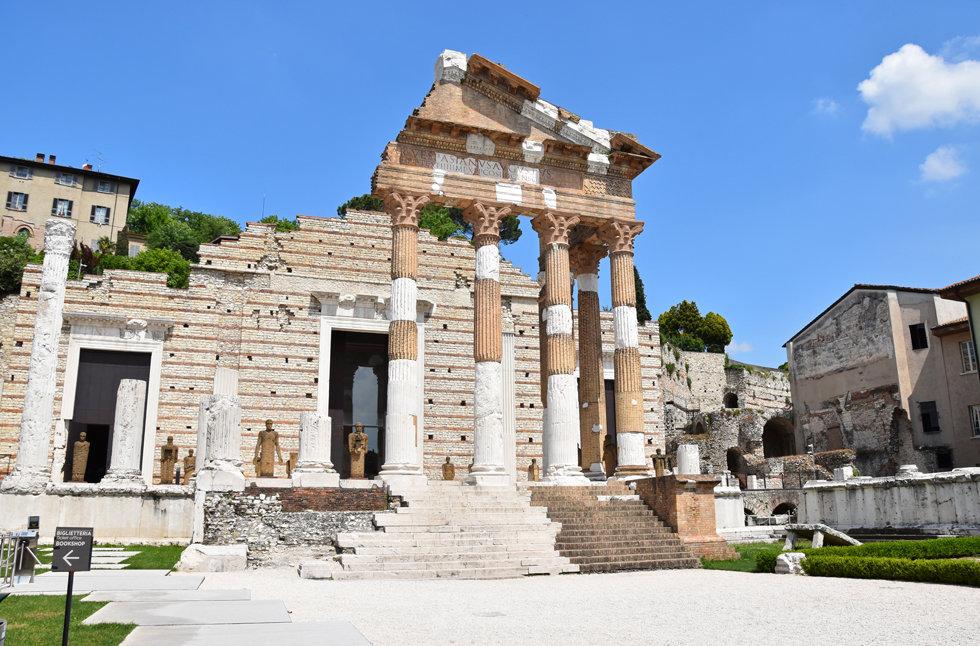 Brescia parc archéologique de Brixia forum