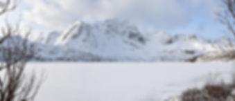 Norvège - Lofoten - Flakstadøya - Storvatnet - lac gelée