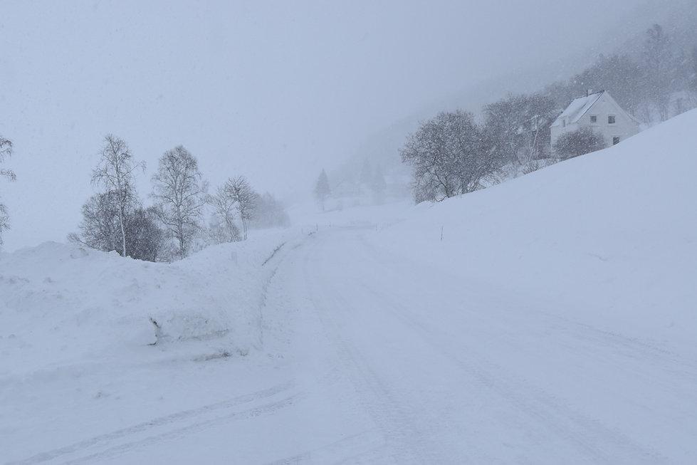 Norvège - route hiver neige