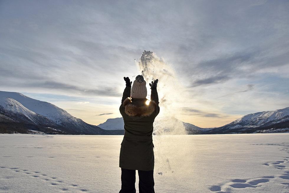 Norvège - lac gelé