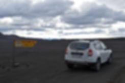 Piste F910 Askja hautes terres désert sable lave duster Ódádahraun
