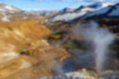 Islande massif Kerlingarfjöll fumerolle