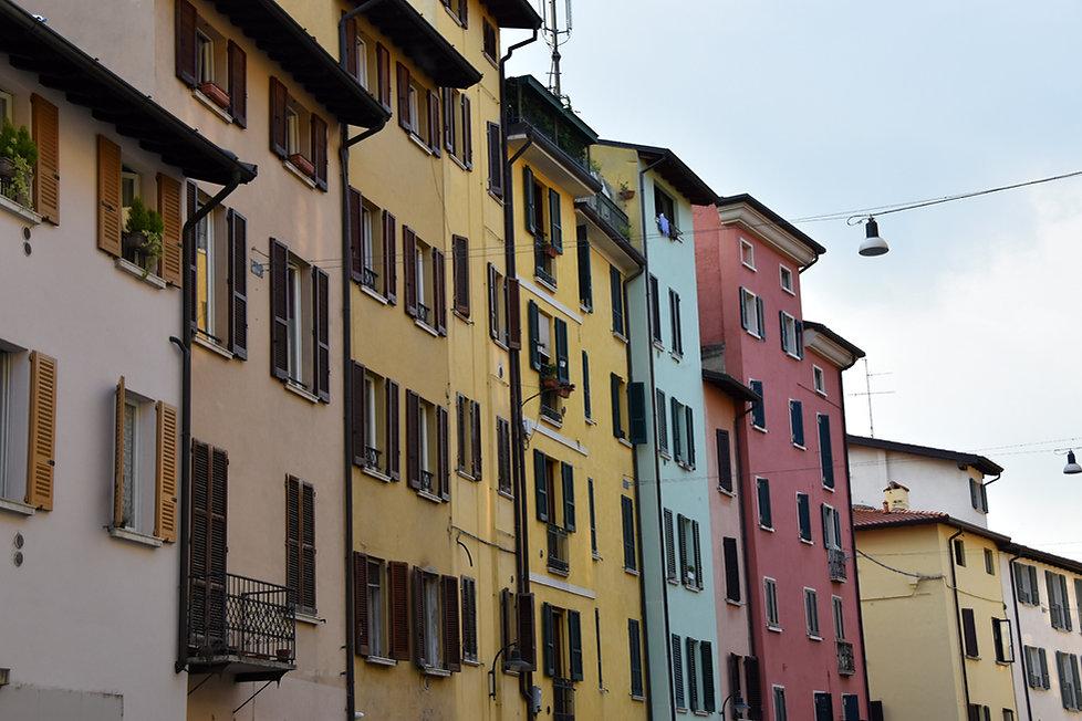 Brescia maisons colorées