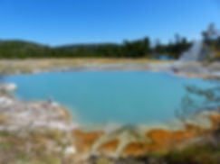 Yellowstone National Park Biscuit Basin Black Diamond Pool
