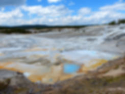 Yellowstone National Parc Norris Geyser Porcelain Basin