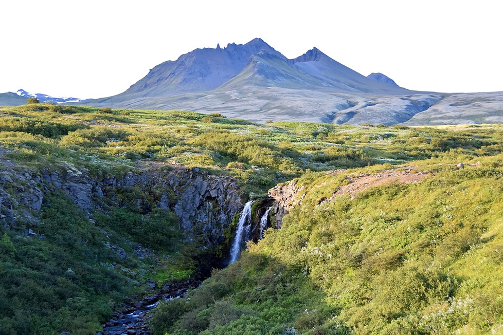 Skaftafell cascade waterfall islande iceland