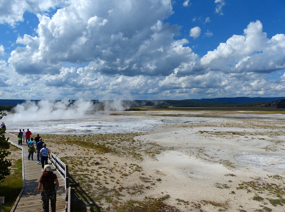 Yellowstone National Park Lower Geyser Basin