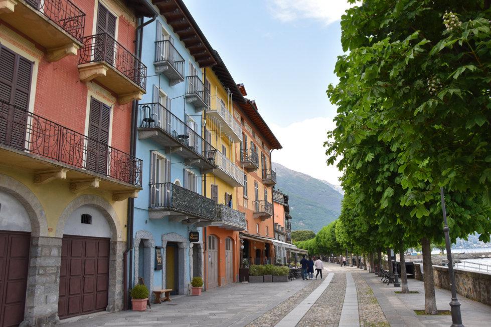 lac majeur cannobio maisons colorées
