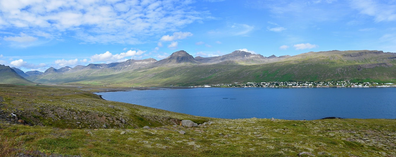 Fáskrúdsfjördur fjord est east islande iceland paysage