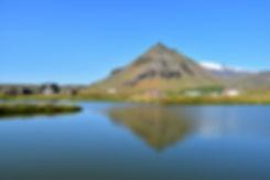 Islande arnarstapi stapafell lac