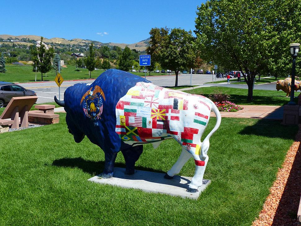Salt Lake City sculptue bison