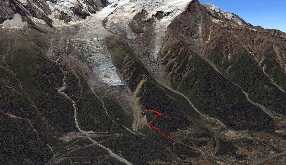 Randonnée Chalet du Glacier des Bossons